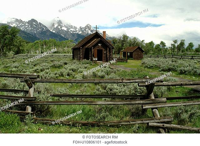 Grand Teton National Park, WY, Wyoming, Moose Junction, Chapel of the Transfiguration