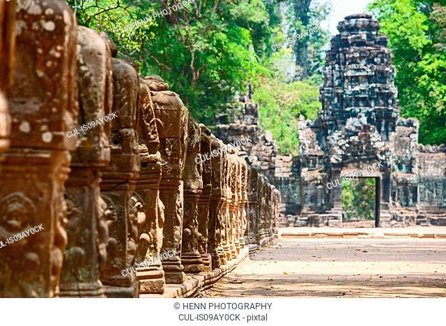 Entrance to Preah Khan temple close to Angkor Wat, Siem Reap, Cambodia
