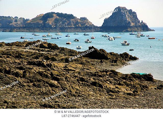 Beach of Cancale, Bretagne, france