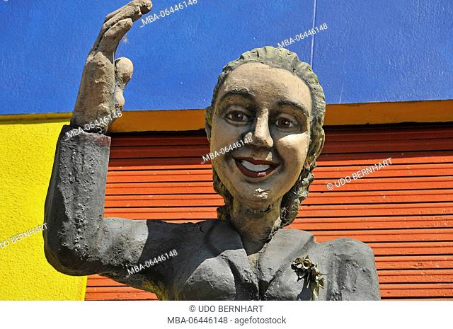 South America, Argentina, Buenos Aires, part of town La Boca, character, Evita Perron