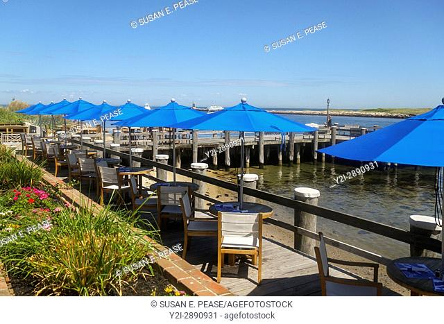Gosman's Dock Restaurant, Montauk, New York, United States, North America