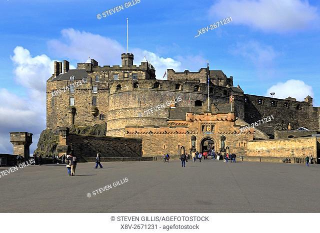 Edinburgh Castle and Esplanade, Edinburgh, Scotland, UK