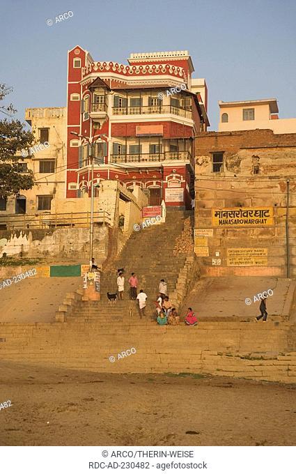 Manasarowar ghat, Varanasi, Benares, Uttar Pradesh, India