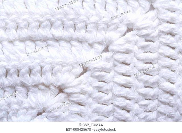 knitted texture white fabric