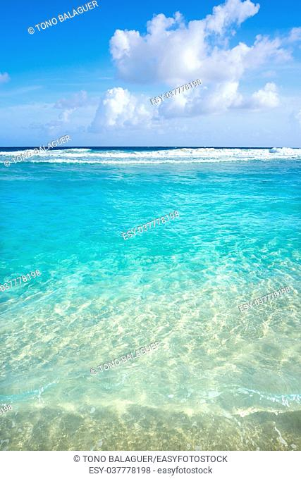 Caribbean turquoise beach clean waters and white sand