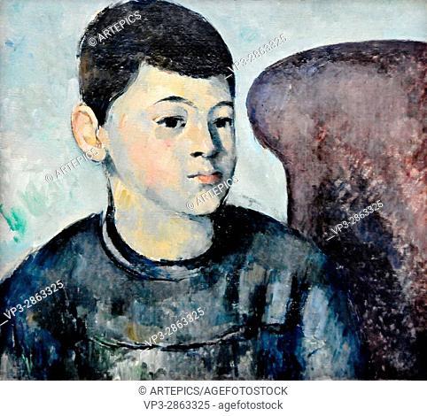 Paul Cézanne . Portrait of son of the artist. 1882 . Musée de l'Orangerie - Paris
