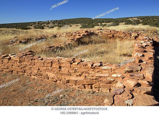 Pueblo ruins, Abo Unit, Salinas Pueblo Missions National Monument, New Mexico