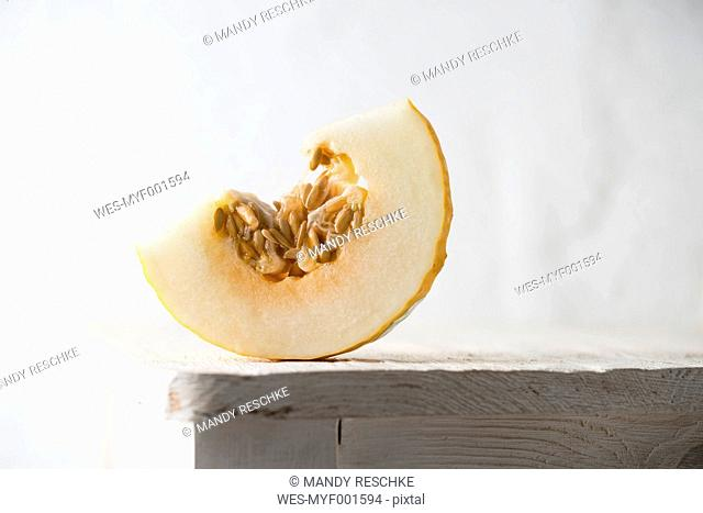 Slice of honeydew melon