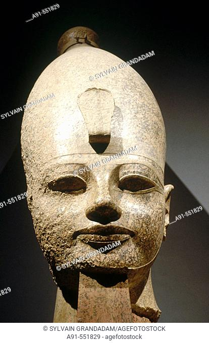 Colossal head of Amenhotep III. Luxor Museum, Egypt