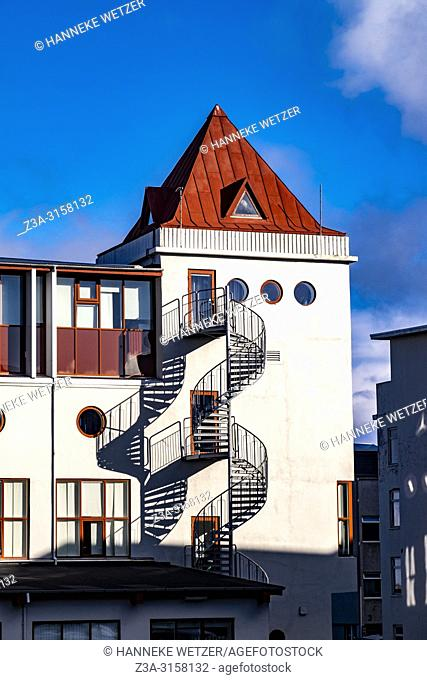 Castle shaped hotel in Reykjavic, Iceland