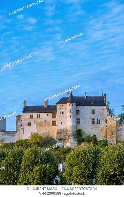 The Logis Royal of the Fortress of Chinon. Indre-et-Loire, Central Region, Loire Valley, France, Europe