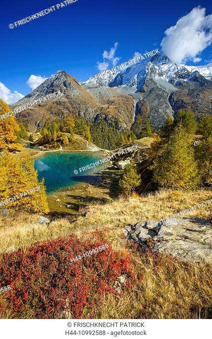 Lac Bleu, Grande Dent de Veisivi, Dent de Perroc, Valais, Switzerland