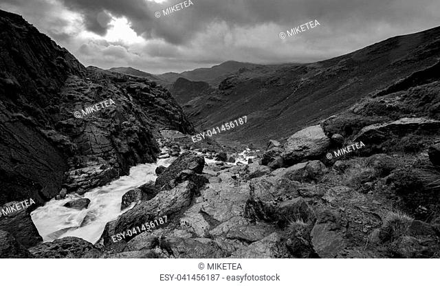 Views from Great Langdale in Cumbria, UK