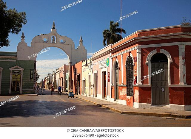 Arco de San Juan-San Juan Arch, Merida, Yucatan Province, Mexico, Central America