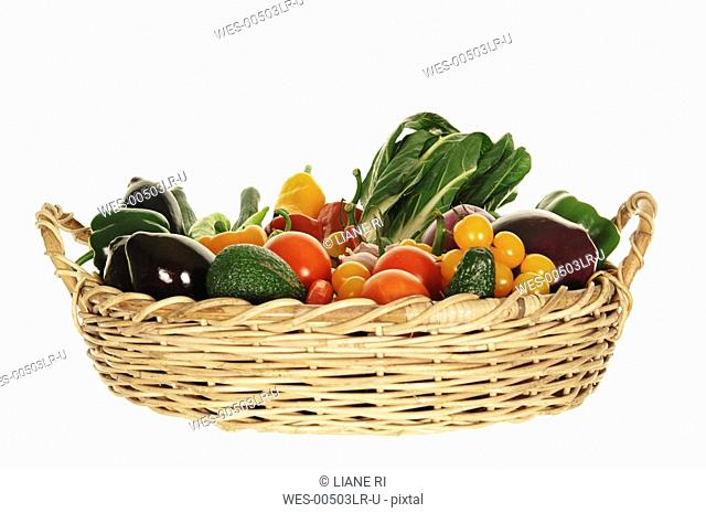 Variety of vegetables in basket