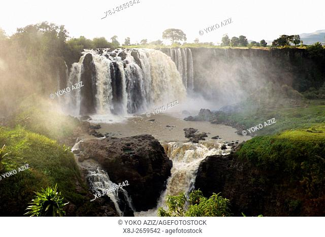 ethiopia, waterfalls of the Blue Nile