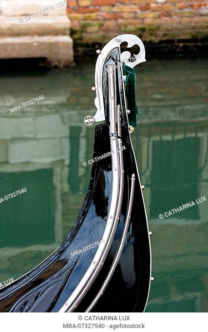 Venice, gondola, detail, icon, bow, metal fitting