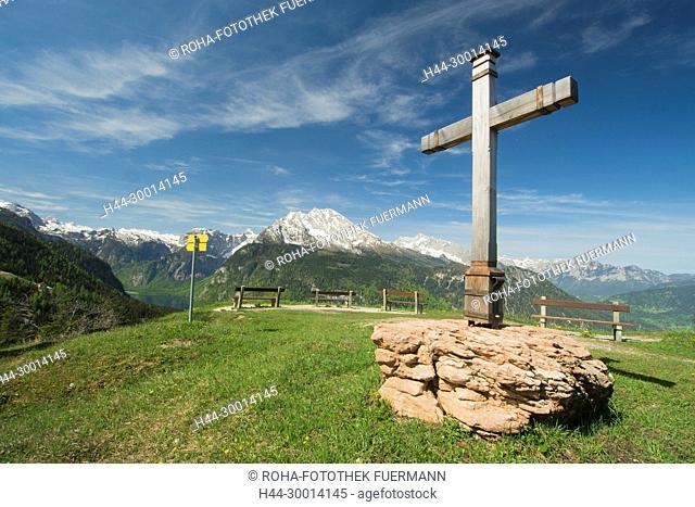 Gipelkreuz am Brandkopf Königssee, Watzmann und die Berchtesgadener Alpen - Schönau - Berchtesgaden