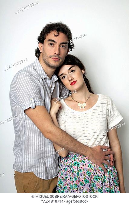 Romantic Couple in Studio