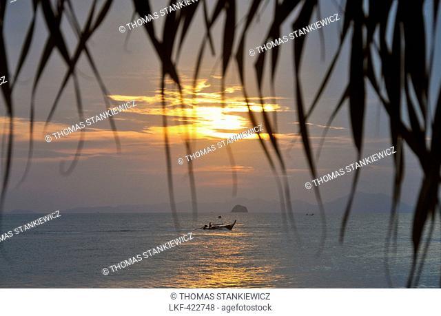 Sunset at Ao Nang Beach, Krabi, Andaman Sea, Thailand, Asia