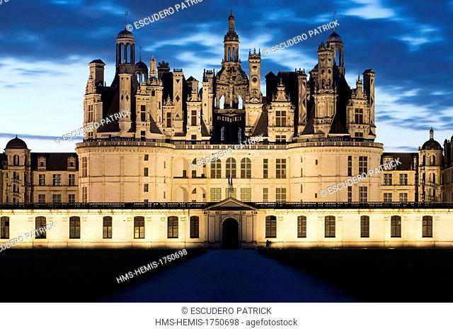 France, Loir et Cher, Loire Valley, listed as World Heritage by UNESCO, Chambord, the Royal castle