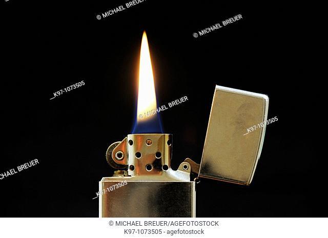 Burning cigarette lighter