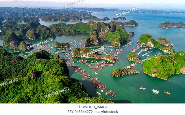 Lan Ha Bay is located east of Cat Ba Island and south of Ha Long Bay. The bay consists of about 400 large and small islands creating a huge picture depicting...