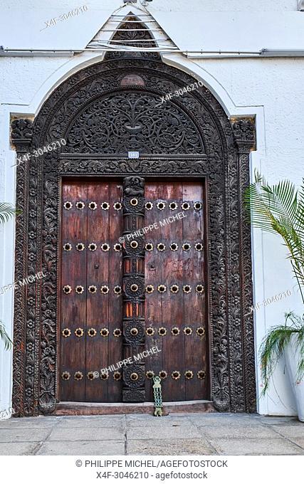 Tanzania, Zanzibar island, Unguja, Stone Town, unesco world heritage, old door