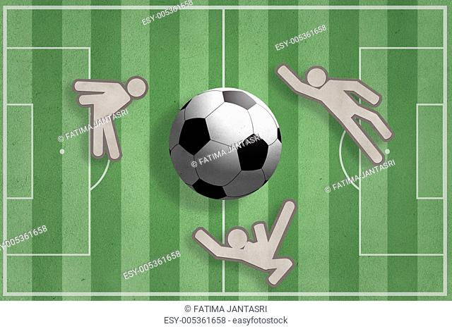 soccer players and soccer ball icon