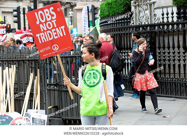 Thousands gather in the City of London to march against austerity. The is to end at Parliament Square Featuring: Atmosphere Where: London
