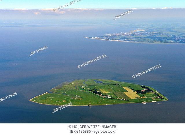 Aerial view, Neuwerk Island