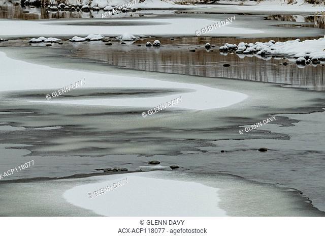 Grand River, a Canadian Heritage River, detail. Nr. Inverhaugh, Ontario, Canada