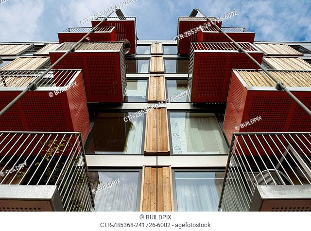 Adelaide wharf, a sustainable development and 2008 RIBA award winning design in Hackney, North-East London, UK