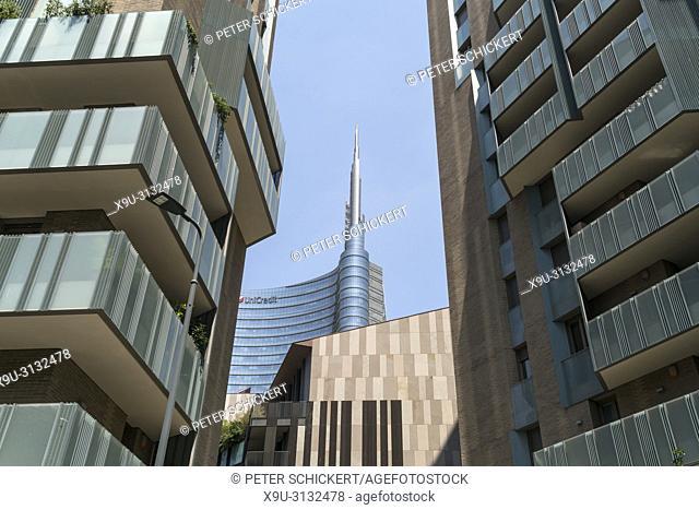 Unicredit Wolkenkratzer, Piazza Gae Aulenti, Porta Nuova, Mailand, Lombardei, Italien | Unicredit skyscraper, Piazza Gae Aulenti, Porta Nuova, Milan, Lombardy