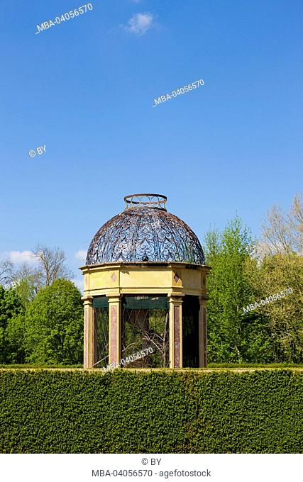 Pavilion in the castle grounds, Chateau Cormatin, France