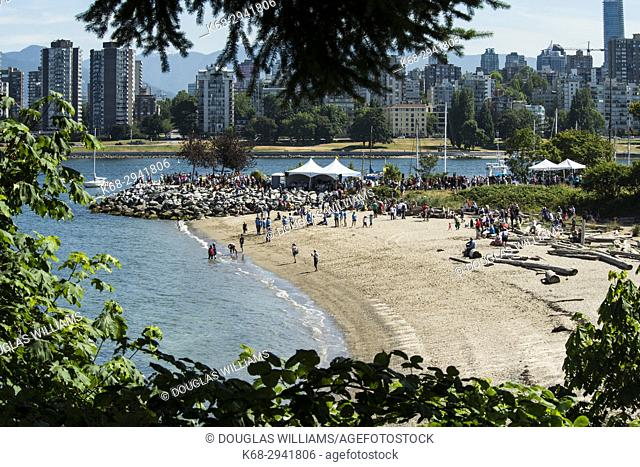 Gathering of Canoes, First Nations ceremony, Vanier Park, Vancouver, BC, Canada