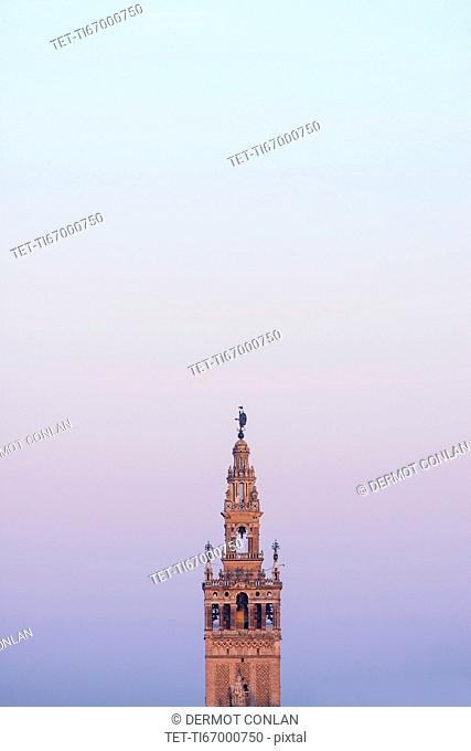 Spain, Seville, Giralda tower at dawn