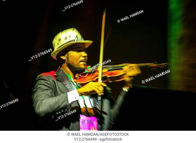 Violinist on stage