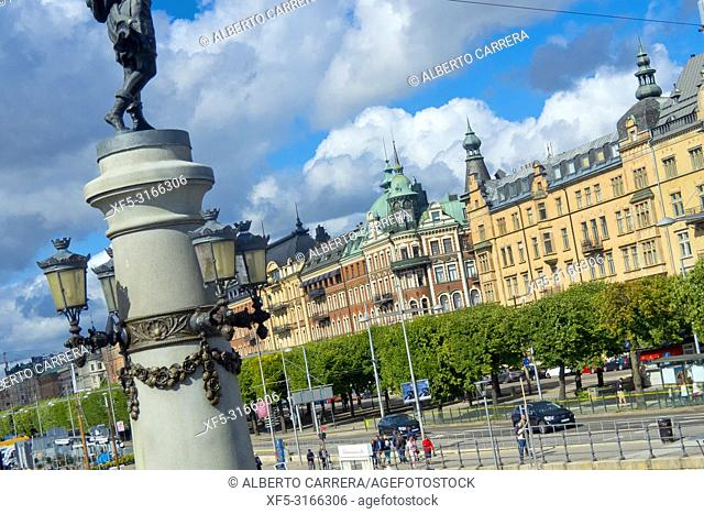 Traditional architecture,Stockholm, Sweden, Scandinavia, Europe