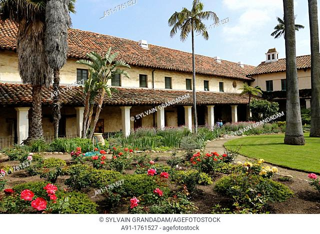 USA, California, city of Santa Barbara, the franciscan spanish mission, Founded on December 1786, it was the tenth of 21 Franciscan missions in California