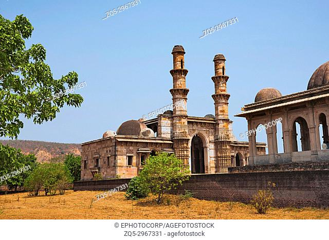 Outer view of Kevada Masjid (Mosque), UNESCO protected Champaner - Pavagadh Archaeological Park, Gujarat, India
