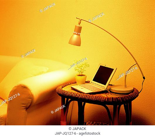 Sofa and laptop