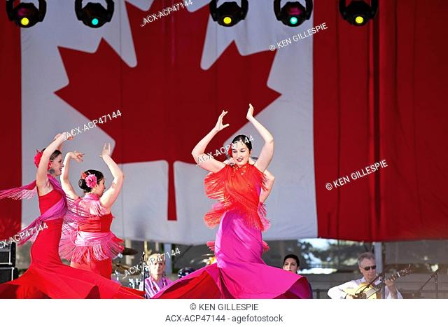 Spanish Flamenco dancers at Folklorama. Winnipeg, Manitoba, Canada