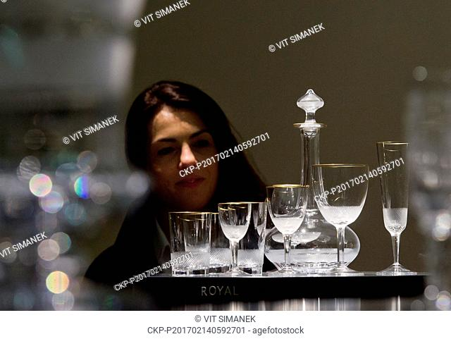 The Story of Moser Crystal exhibition marking 160 years of Czech crystal maker Moser Glassworks was open in Prague's Municipal House on Tuesday, Fabruary 14