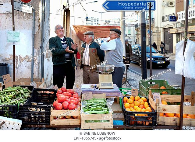 Vegetable stall, Market, Loule, Algarve, Portugal