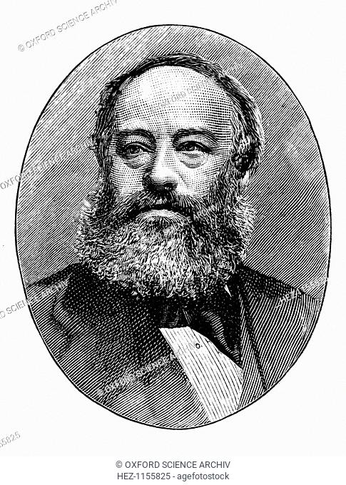 James Prescott Joule, English physicist, c1895. Joule (1818-1889) was born at Salford near Manchester and studied chemistry under John Dalton