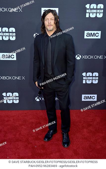 Norman Reedus attends AMC's 'The Walking Dead' Season 8 Premiere and the 100th Episode celebration at Greek Theatre on October 22, 2017 in Los Angeles