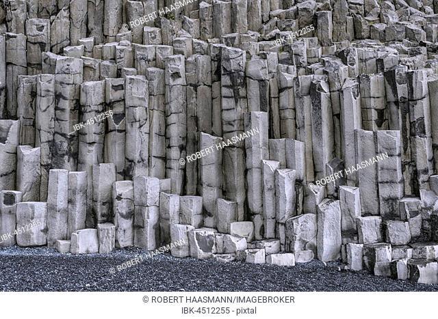 Basalt columns, beach near Vik, Vík í Mýrdal, Iceland