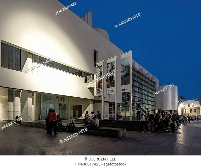 Spain, Catalonia, Catalunya, Barcelona, Raval, MACBA, Museum of Mordern Art , Architect Richard Meier, Square of Angels