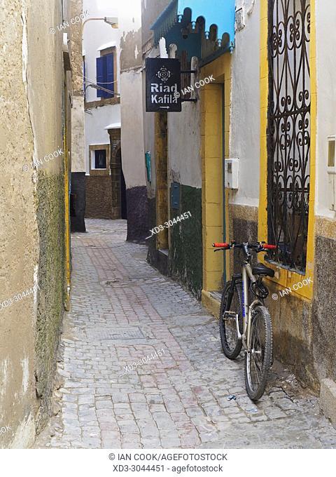 narrow street in the medina, Essaouira, Morocco
